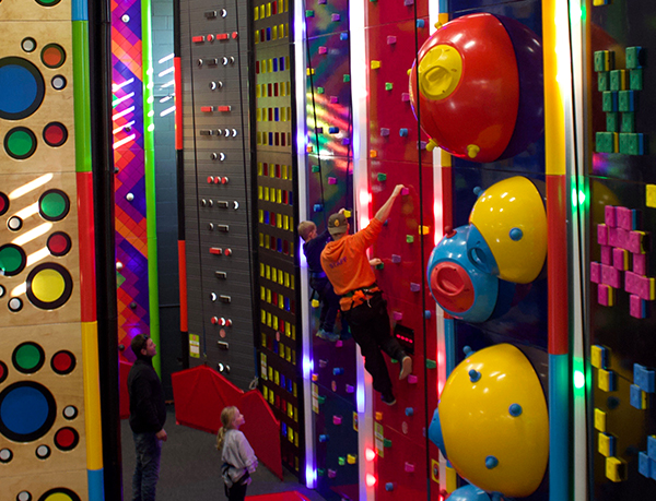 Individually themed climbing walls Clip 'n Climb Dunedin